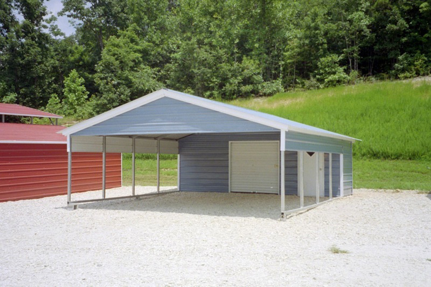Steel carport kits metal carport kits 595 for Carport shed combo